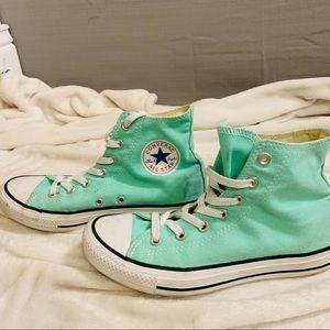 Mint Green High Top Converse
